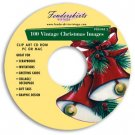 Vintage Christmas Cards Images Vol 2 Clipart CD