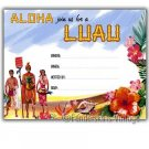 Retro Vintage 1950s Hawaiian Luau Party Invitations