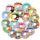 Vintage Retro Images Collection Clipart 5 Disc Bundle