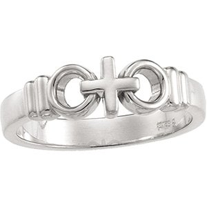 "Sterling Silver ""Joined by Christ"" Ring"