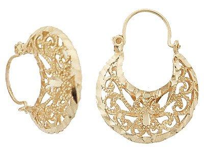 14K Gold Filigree Earrings