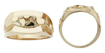 Men's 14K Gold Nugget Ring