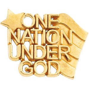 """14K Gold """"One Nation Under God"""" Lapel Pin - Choice"""
