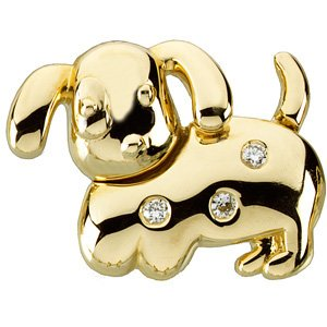 14K Gold Dottie the Dog Waggles� Pendant