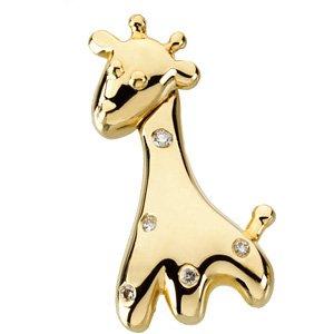 14K Gold Gert the Giraffe Waggles� Pendant