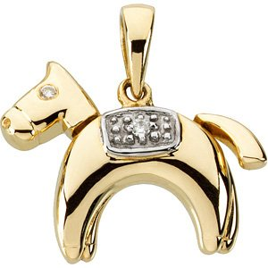 14K Gold Hannah the Horse Waggles� Pendant