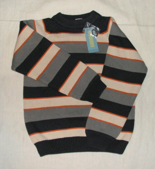 Gymboree construction Zone Striped sweater size 7