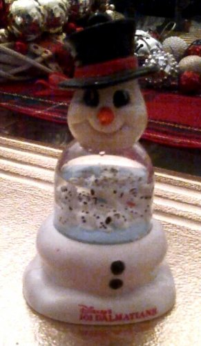 Disney 101 Dalmations Snowman snow Shaker