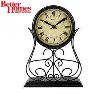 BETTER HOMES & GARDENS® WROUGHT IRON MANTEL CLOCK