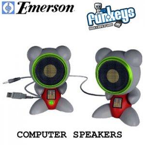 EMERSON® FUNKEYS USB COMPUTER SPEAKERS L@@K!!