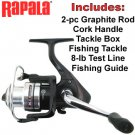 RAPALA® SPINNING ROD & REEL COMBO KIT  Great for the Fisherman of your life L@@K!!