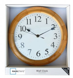 "MAINSTAYS® 11.5"" WALL CLOCK  L@@K!!"