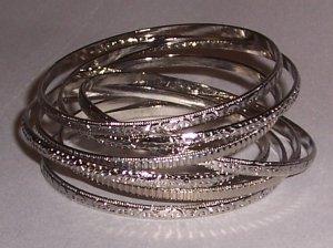 Textured Bangle Bracelets