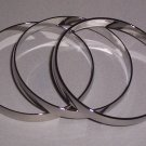 Chrome Bangle Bracelets