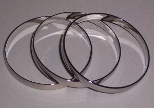 Chrome Bangle Bracelets