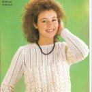 Robin KNITTING PATTERN Women's Lacy Pullover  in DK