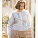 Patons KNITTING PATTERN  Mohair Cardigan with cotton colorblock design