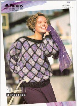 Patons KNITTING PATTERN  Women's Pullover