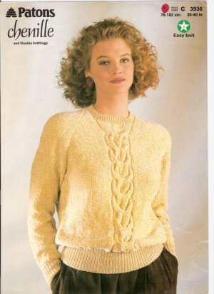 Patons KNITTING PATTERN  Cable Pullover