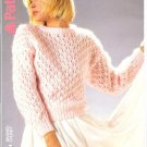 Patons KNITTING PATTERN  Lace patterned Pullover