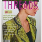 THREADS Magazine #100 Fleece cord Ribbons Adhesives ++