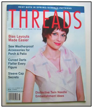 THREADS Magazine #107 Curved darts Bias Twin-needle ++