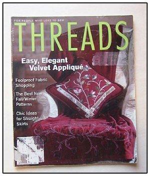 THREADS Magazine #110 Velvet Applique Shawl Collars