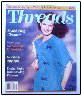 THREADS Magazine #58 Design Knitting fr Sewing pattern