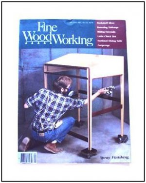 1987 FINE WOODWORKING Magazine #62 Spray Finishing Sliding Dovetails Bookcases +