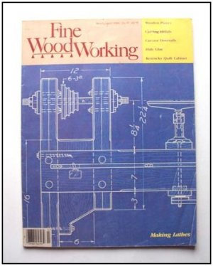 1986 FINE WOODWORKING Magazine #57 Carving Finials Carcase Dovetails Cabinet +