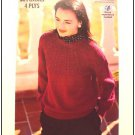 KNITTING Pattern Womens Pullover with Textured Circular YOKE Design