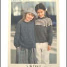 KNITTING Pattern Children Pullover Raglan Sleeve Plain or Stripe DK