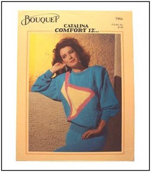 KNITTING 3 Patterns Star Stripe Triangle Womens Sweaters in DK
