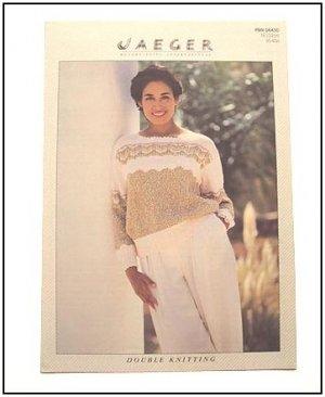 KNITTING Pattern CHEVRON LACE Sweater in DK