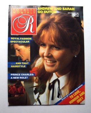 1986 ROYALTY Magazine Vol 6/2 Princess Diana Royal Fashion Sarah Ferguson ++