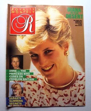 1987 ROYALTY Magazine Vol 6/4 Princess Diana Tour Gulf States Princess Anne ++