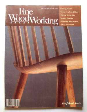 1985 Fine Woodworking Magazine 50 Kerf Bent Seats Carving Panels