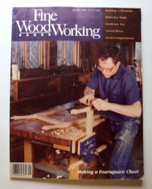 1989 FINE WOODWORKING Magazine #74 Pedestal Tables Turning Alabaster Wardrobe +