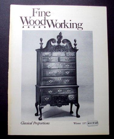 1977 FINE WOODWORKING Magazine #9 Tall Chests Hanging Doors Blacksmithing ++