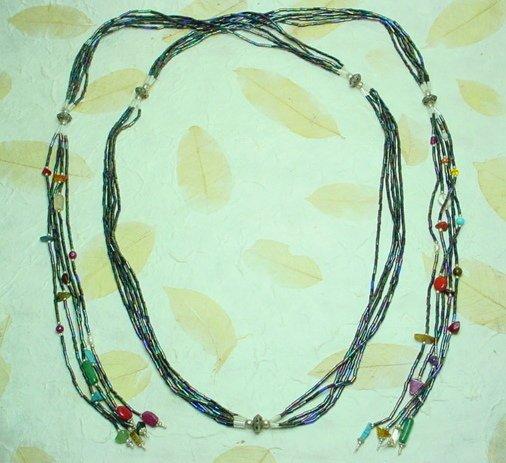 Mixed Stone + Bead Necklace
