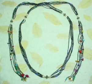Mixed Stone + Bead Necklace