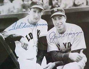 Ted Williams and Joe Dimaggio Signed Photo