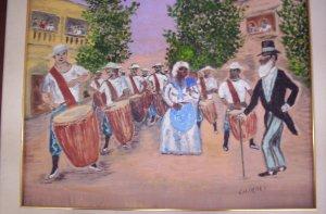 """Milton Cairoli oil painting """"Desfile de las llamadas"""""""