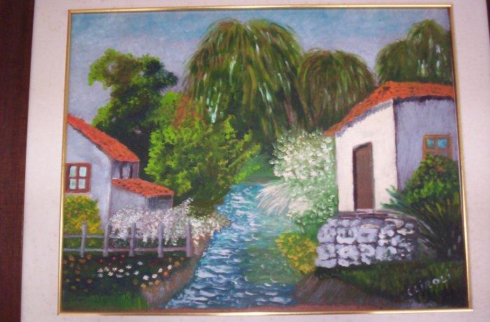 """Milton Cairoli oil painting """"Arroyo"""""""