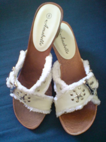White Color Wooden sandal (New In Box)