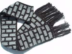 Black and Gray Brick Scarf