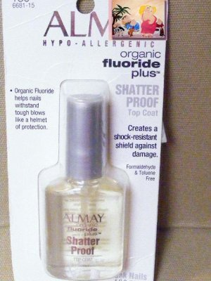 Almay Nail Polish Top Coat Organic Fluoride Plus Nail Polish Shatter ...