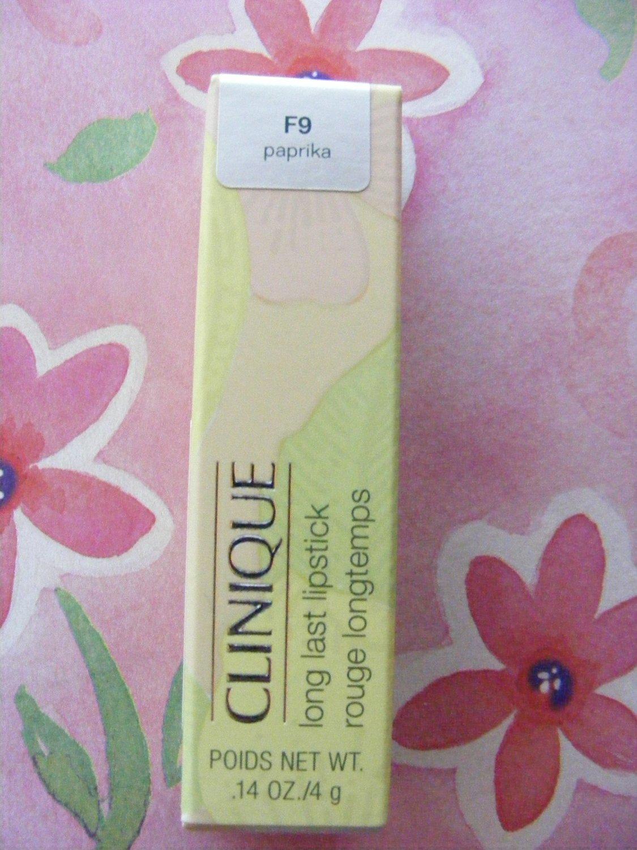 Clinique Paprika F9 Long Last Lipstick New in Box!
