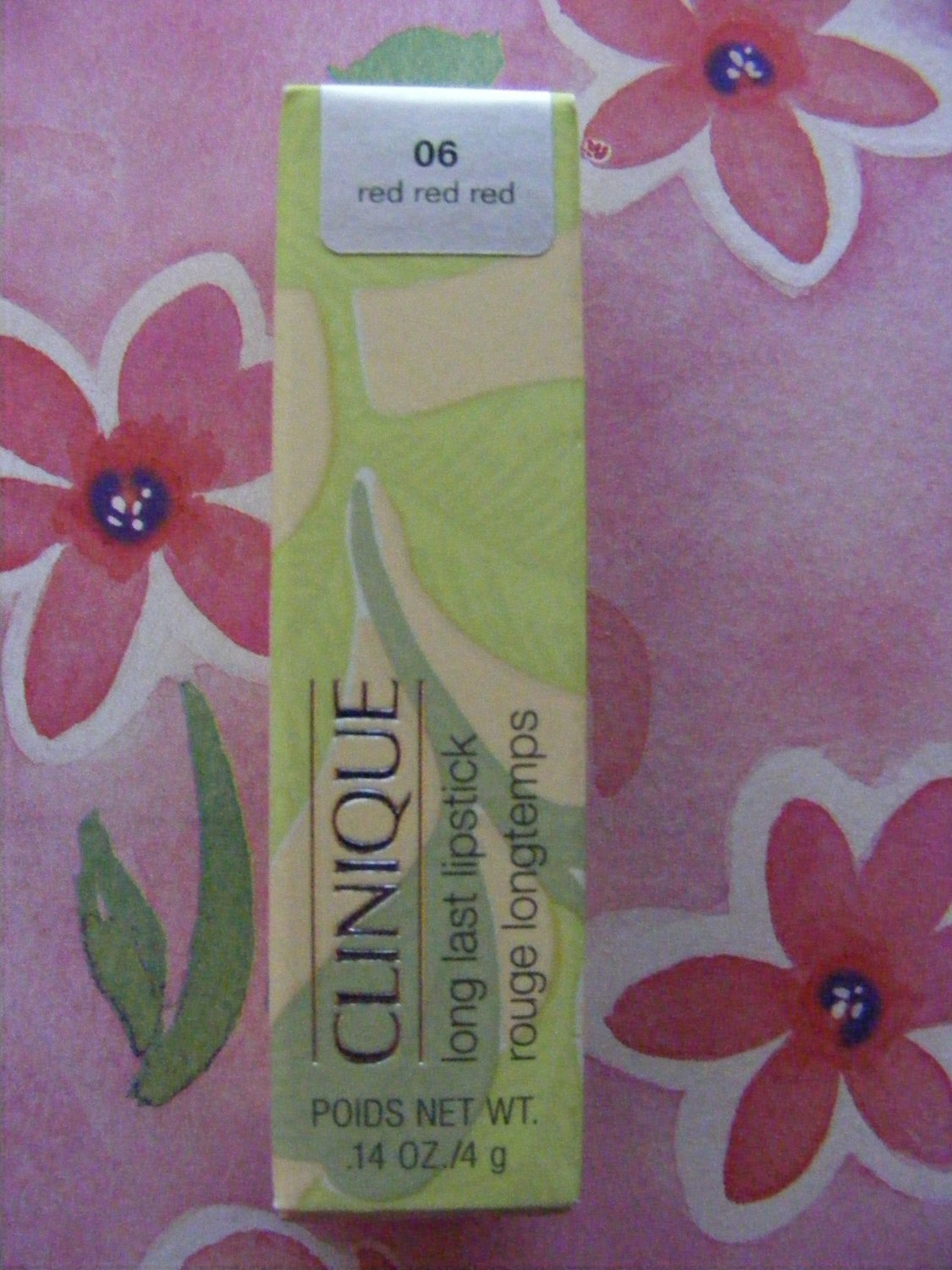 Clinique Red Red Red 06 Long Last Lipstick New in Box!