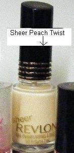 Revlon Sheer Peach Twist Nail Polish Sheer Translucide